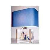 moyenne lampe rectangle goelette bleu fonce abat jour rectangle bleu fonce 132