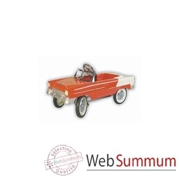 Voiture à pédales en métal rouge classic chevy 55 G038D