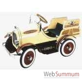 voiture a pedales en metadeluxe deluxe woody wagon creme g 053