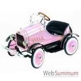 voiture a pedales en metadeluxe modet roadster rose g 062