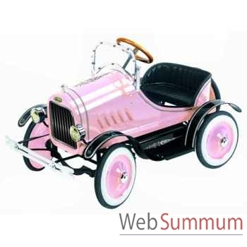 Voiture à pédales en métal deluxe model t roadster rose G-062