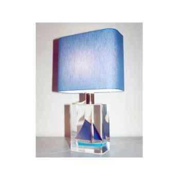 Mini Lampe Petite Barque Bleu Abat-jour Rectangle-74