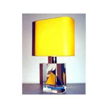 Mini Lampe Petite barque Bleue-Jaune Abat-jour jaune-76