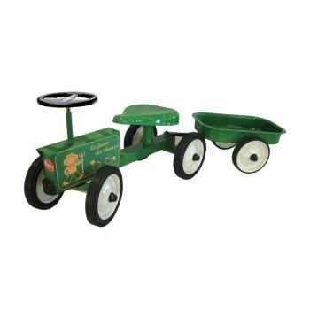 Porteur en métal Baghera tracteur et sa remorque 851