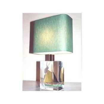 Mini Lampe Petite Barque Verte Abat-jour Rectangle Vert