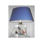 petite lampe chaloupe can 23 bleu abat jour ovale bleu fonce 85 1
