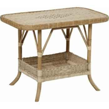 Table basse Rotin Grand Père sans filets de couleurs - naturel KOK 796