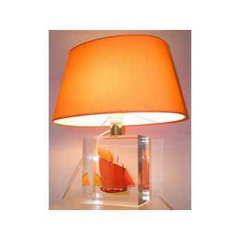 Petite Lampe Chaloupe Can 62 Jaune Abat-jour Ovale Jaune-86