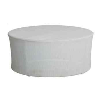Grande table basse Cap Sud Batyline perle avec dalle de verre KOK 578 BB