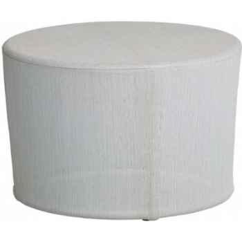 Petite table basse Cap Sud Batyline perle avec dalle de verre KOK 578/2 BB