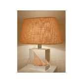 petite lampe felouque egyptienne abat jour ovale creme 98 2