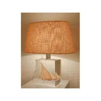 Petite lampe Felouque Egyptienne Abat-jour Ovale Creme-98-2