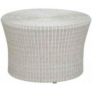 Petite table basse Biblos résine Crème sans verre KOK 578/2W