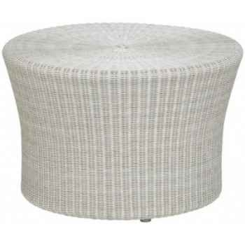 Petite table basse Biblos résine Crème avec verre ep 6 mm KOK 578/2W -DAC 320