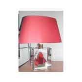 petite lampe ovathonier cc 798 vert rouge abat jour ovale rouge 93