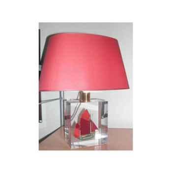 Petite Lampe Oval Thonier CC 798 Vert & Rouge Abat-jour Ovale Rouge-93
