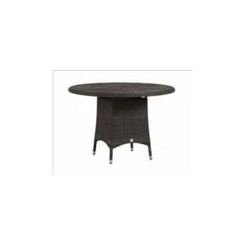 Table repas Cigale résine Poivre avec verre ep 6 mm KOK 597/1p-DAC 311