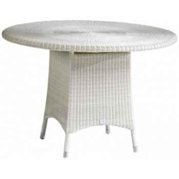 Table repas Cigale résine Crème sans verre KOK 597/1W