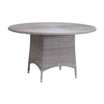 Table repas Cigale Résine Galet sans verre KOK 597/3H