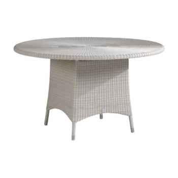 Table repas Cigale résine Crème sans verre KOK 597/3W