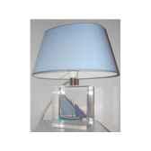 petite lampe ovale le pointu bleu abat jour ovale bleu clair 88