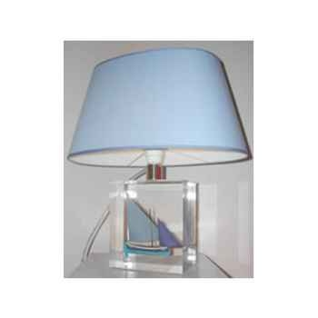 Petite Lampe Ovale Le Pointu Bleu Abat-jour Ovale Bleu Clair-88