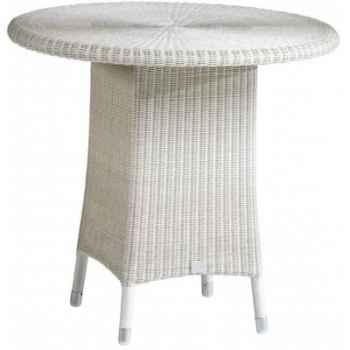Table Cigale résine Crème avec verre ep 6 mm KOK 597/4W - DAC 309