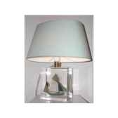 petite lampe ovale thonier cc 798 vert abat jour ovale vert clair 92