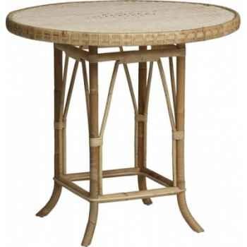 Table ronde diam KOK 80 sans filets de couleur Grand Père - naturel KOK 825/2