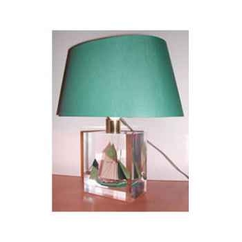 Petite Lampe Ovale Thonier CC 798 Vert Abat-jour Ovale Vert Foncé-91