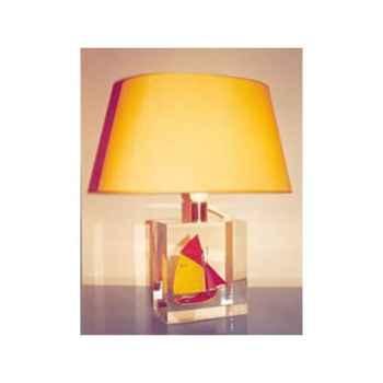 Petite lampe Ovale Thonier D 218 Rouge & Jaune Abat-jour Ovale -94
