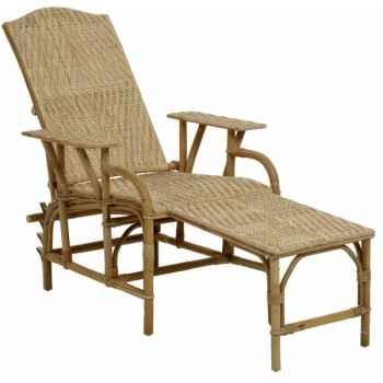 Chaise longue Grand-Mère avec coussin écru KOK 859-C859