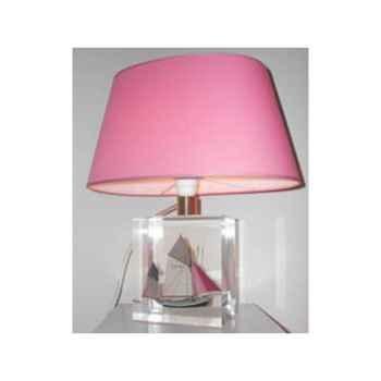 Petite Lampe Ovale Thonier Gris & Rose Abat-jour Ovale Rose-95