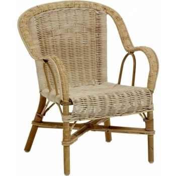Ensemble 6 fauteuils enfant Grand Père - naturel KOK 975