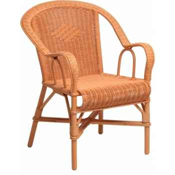 Fauteuil Grand Père orange capucine KOK 978OR