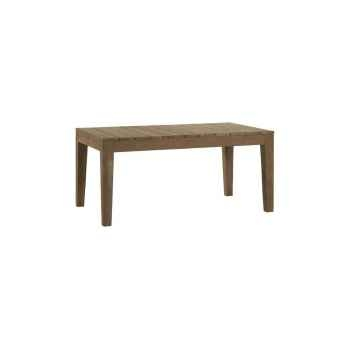 Table family outdoor Teck Recyclé naturel brossé KOK M201