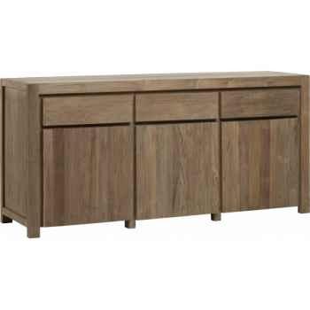 Buffet 3 portes 3 tiroirs drift Teck Recyclé naturel brossé KOK M114N