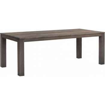 Table drift Teck Recyclé gris brossé KOK M31G