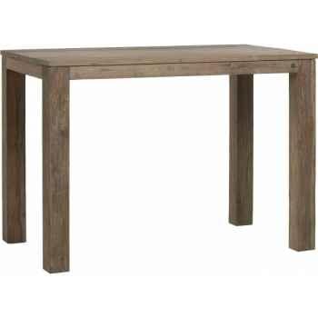 Table haute drift Teck Recyclé naturel brossé KOK M34N