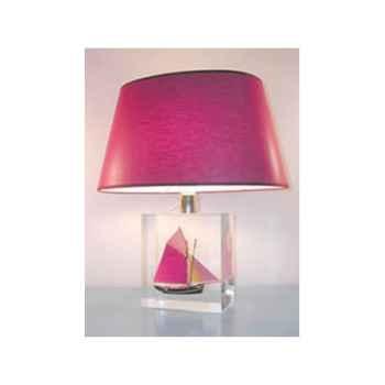 Petite Lampe Ovale Thonier Parme Abat-jour Ovale Parme-99