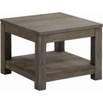 Table basse carrée pm drift Teck Recyclé gris brossé KOK M39G