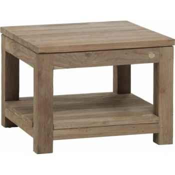 Table basse carrée pm drift Teck Recyclé naturel brossé KOK M39N