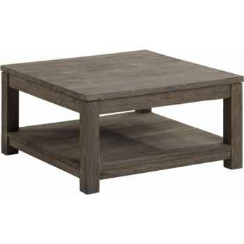 Table basse carrée mm drift Teck Recyclé gris brossé KOK M40G