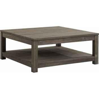 Table basse carrée gy drift Teck Recyclé gris brossé KOK M41G