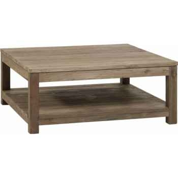 Table basse carrée gy drift Teck Recyclé naturel brossé KOK M41N