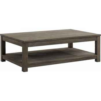 Table basse rectangulaire drift Teck Recyclé gris brossé KOK M42G