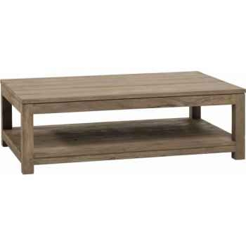 Table basse rectangulaire drift Teck Recyclé naturel brossé KOK M42N