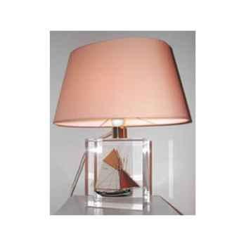 Petite Lampe Ovale Thonier TR 19 Abat-jour Ovale Abricot-100