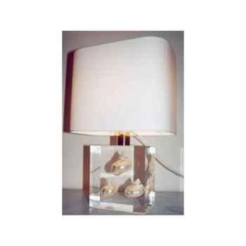 Petite Lampe Rectangle 3 Turbo blanc Abat-jour Rectangle Blanc-101