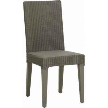 Chaise bridget rotin loom teinte argile d'origine sans coussin Kok 635LAG